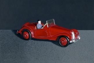 """""""MG Car"""" Acrylic on Board, 30cm x 20cm, Commission."""