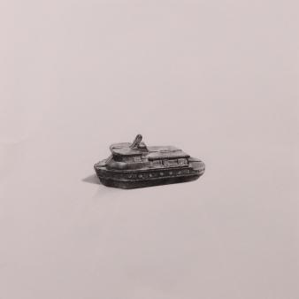 """Boat"" Wax pencil on card, 40cm x 40cm, Sold"