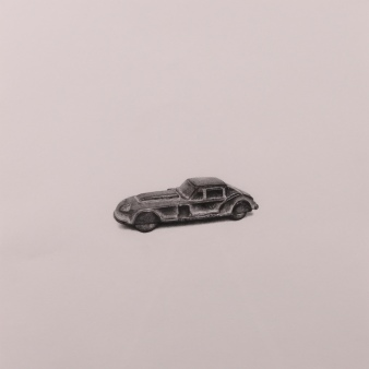 """Car"" Wax pencil on card, 40cm x 40cm, Sold"