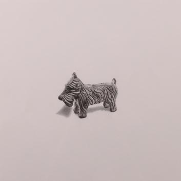 """Dog"" Wax Pencil on card, 40cm x 40cm, Sold"
